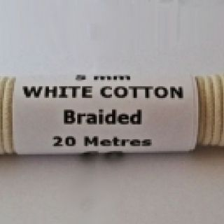 5mm Natural White Braided Cotton Rope