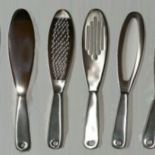 Set of Six Stainless Steel Paddles