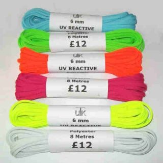 6mm UV Reactive Rope